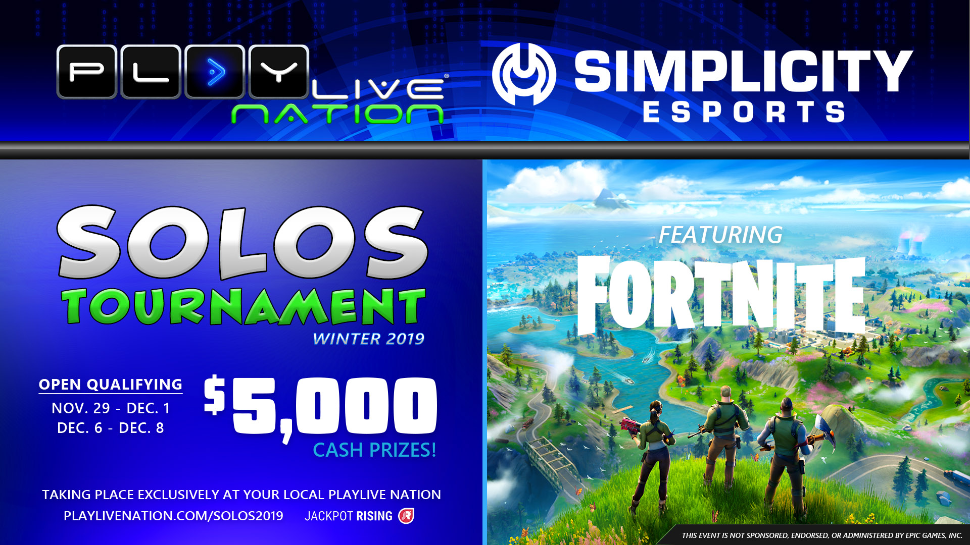 Fortnite Solos Tournament Winter 2019 Playlive Nation
